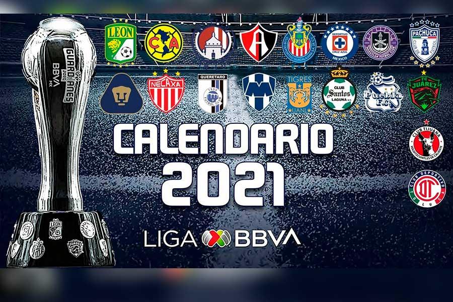 jornada1_calendario, Jornada, Jornada 1, Apertura 2021, 128 kb